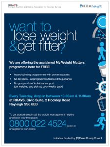 My Weight Matters – Free 12 Week Weight Loss Programme – Postponed until further notice