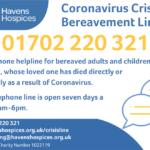 Coronavirus Crisis Bereavement Line 01702 220 321
